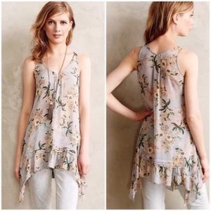 Anthropologie | Maeve Magda Floral Tunic Top